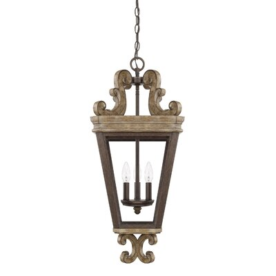 Basswood 3-Light Foyer Pendant