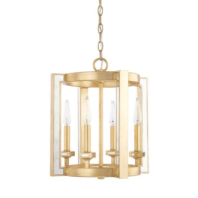 Bobby 4-Light Foyer Pendant Size: 17 H x 14.25 W x 14.25 D
