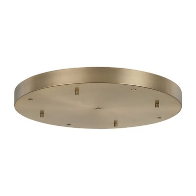 Round Multi-Port Pendant Canopies Finish: Aged Brass