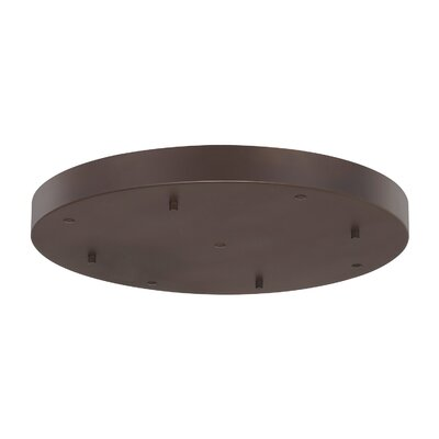 Round Multi-Port Pendant Canopies Finish: Burnished Bronze