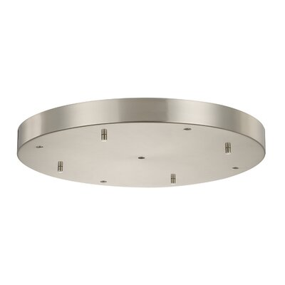 Round Multi-Port Pendant Canopies Finish: Brushed Nickel