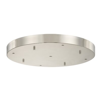 Round Multi-Port Pendant Canopies Finish: Polished Nickel