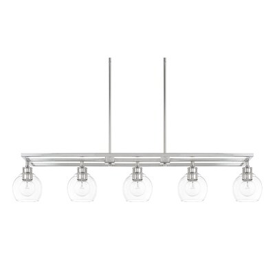 Tyngsborough 5-Light Kitchen Island Pendant Finish: Polished Nickel