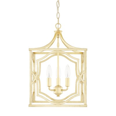 Destrey 3-Light Metal Foyer Pendant