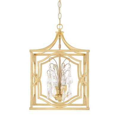 Destrey Traditional 3-Light Foyer Pendant