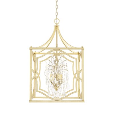 Destrey Traditional 4-Light Metal Foyer Pendant