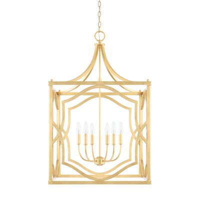 Destrey 6-Light Metal Foyer Pendant