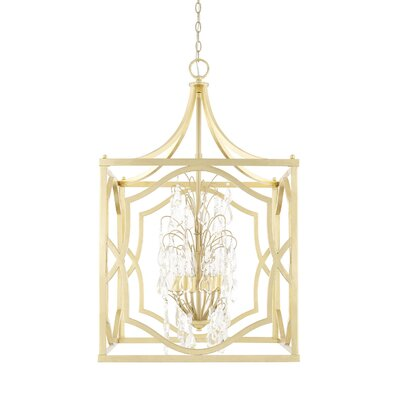 Destrey Traditional 6-Light Foyer Pendant