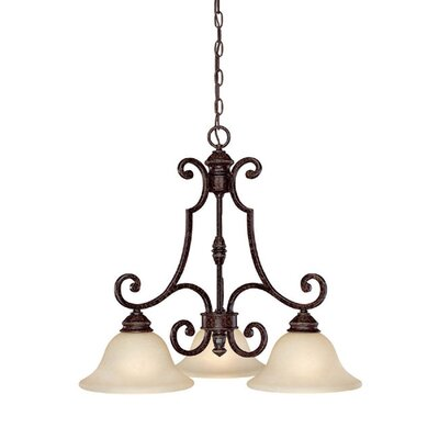 Byington 3-Light Shaded Chandelier