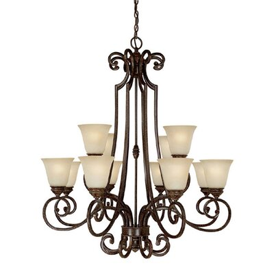 Barclay 12-Light Shaded Chandelier