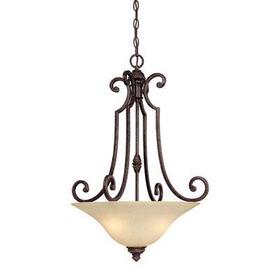 Barclay 3-Light Inverted Pendant Finish: Chesterfield Brown
