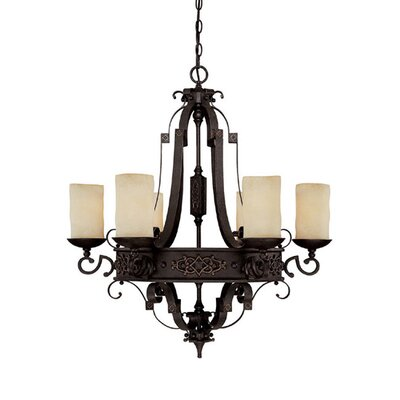 River Crest 6-Light Shaded Chandelier