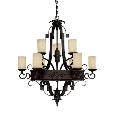 Byrd 9-Light Shaded Chandelier