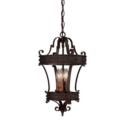 Byrd 4-Light Foyer Pendant Size: 20.25 H x 12 W x 12 D