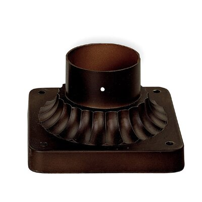 Outdoor Pier Mount Flange Finish: Burnished Bronze