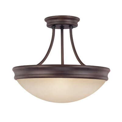 Jeffrey 60W 3-Light Semi Flush Mount
