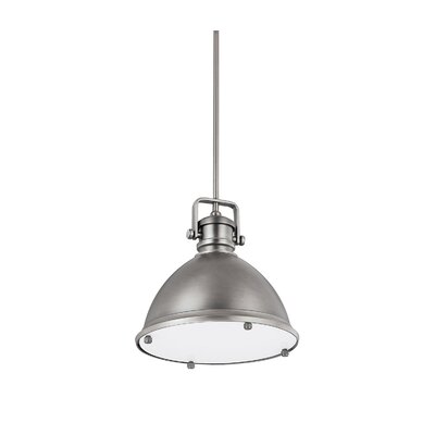 1-Light Mini Pendant Finish: Antique Nickel, Size: 56.25 H x 19 W