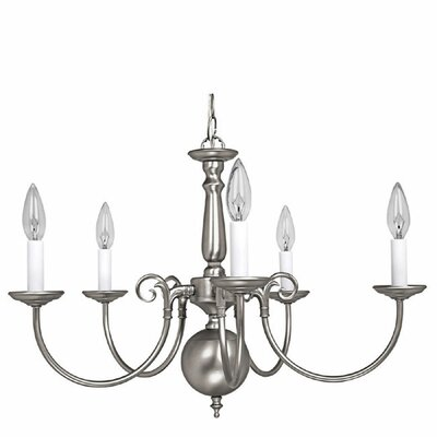 5-Light Candle-Style Chandelier Finish: Matte Nickel