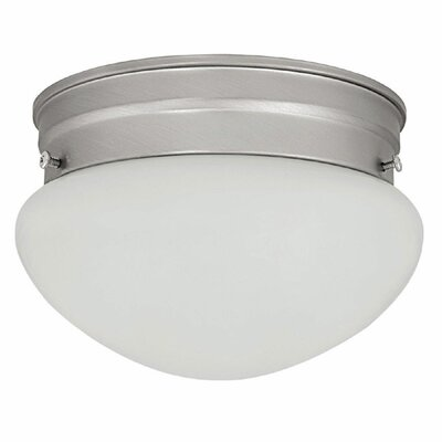 Mabrey 1-Light Flush Mount Finish: Matte Nickel