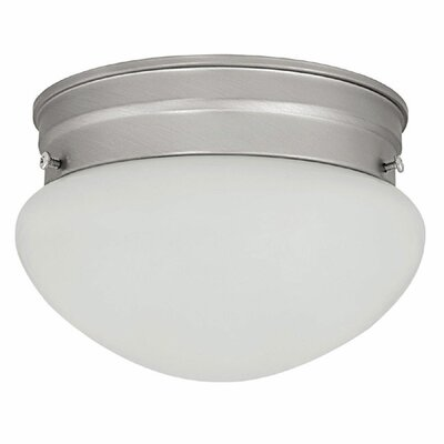 Harrington 2-Light Flush Mount Finish: Matte Nickel
