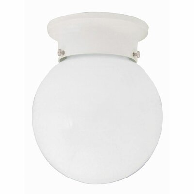 Lykes 1-Light Flush Mount Finish: Wht