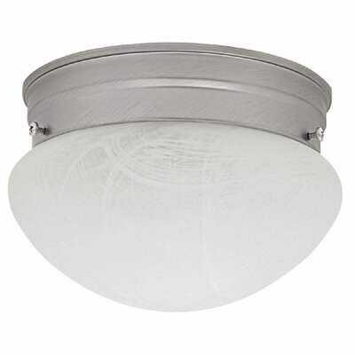 Mackinaw 1-Light Flush Mount Finish: Matte Nickel