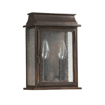 Bolton 2-Light Outdoor Flush Mount Size: 11 H x 7.4 W x 4.35 D