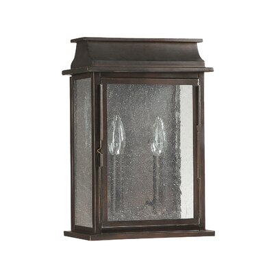 Bolton 2-Light Outdoor Flush Mount Size: 13.75 H x 9.25 W x 5.45 D