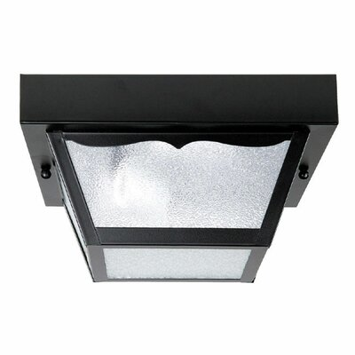 MacDowell 1-Light Flush Mount Finish: Black