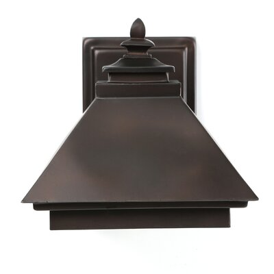 Addison 1-Light Outdoor Wall Lantern Finish: Burnished Bronze, Bulb Type: Incandescent