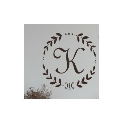 Personalized French Vine Monogram Wall Decal