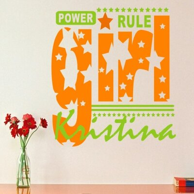 Personalized Girls Rule Wall Decal