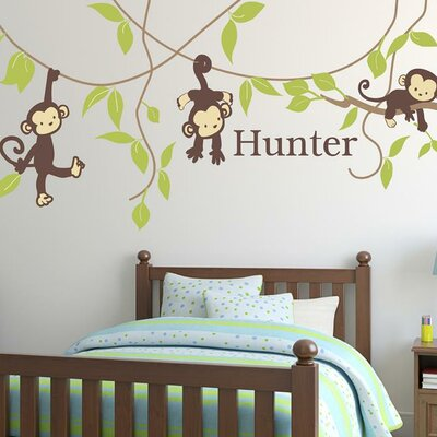 Monkey Around Wall Decal fabric010