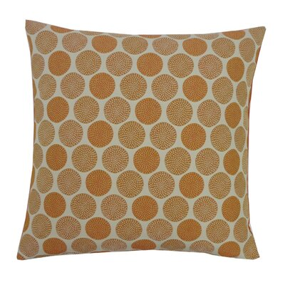Radius Cotton Throw Pillow Color: Orange