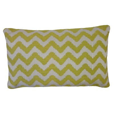 Bright and Fresh Zig Zag Cotton Lumbar Pillow Color: Citron