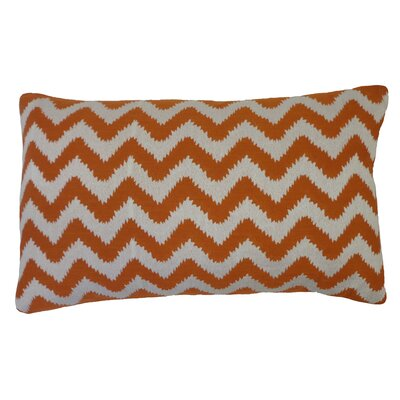 Bright and Fresh Zig Zag Cotton Lumbar Pillow Color: Rust