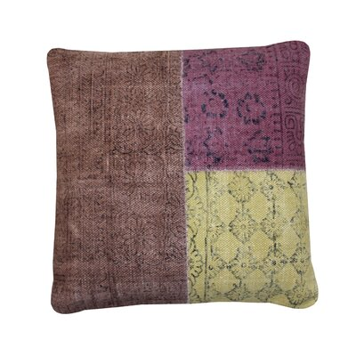 Bright and Fresh Art Rug Block Printed Cotton Throw Pillow