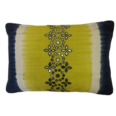 Bright and Fresh Sheesha Cotton Lumbar Pillow Color: Lime