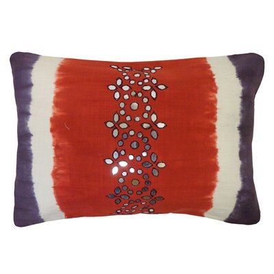 Bright and Fresh Sheesha Cotton Lumbar Pillow Color: Red