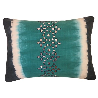 Bright and Fresh Sheesha Cotton Lumbar Pillow Color: Turquoise