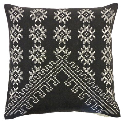 Bright and Fresh Fez Cotton Throw Pillow Color: Charcoal