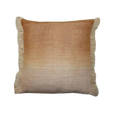 Bright and Fresh Nomad Cotton Throw Pillow Color: Peach