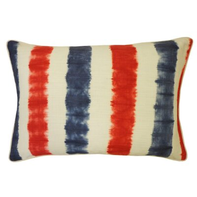 Bright and Fresh Bands Cotton Lumbar Pillow