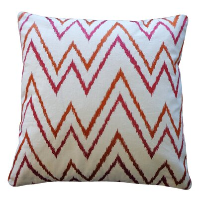 Sierra Cotton Throw Pillow Color: Orange