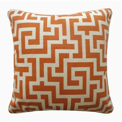 Etch Cotton Throw Pillow Color: Orange