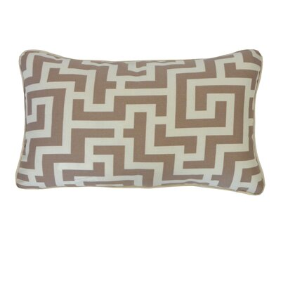 Etch Cotton Lumbar Pillow Color: Orange