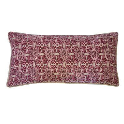 Stamp Lumbar Pillow Color: Berry