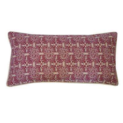 Stamp Lumbar Pillow Color: Berry