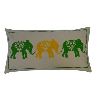 Pi Cotton Lumbar Pillow Color: Green Yellow