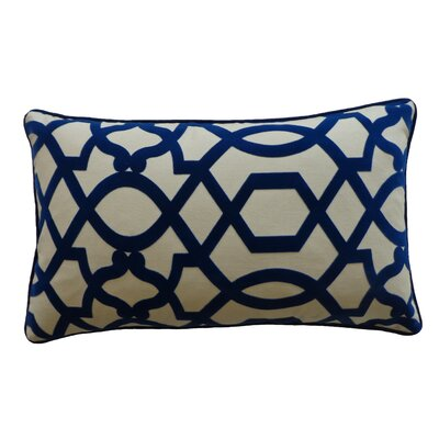 Tangled Cotton Lumbar Pillow Color: Blue